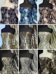 Super Soft Satin Fabric- Animal Prints