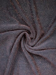Slinky Shimmer 4 Way Stretch Fabric- Black/Copper Q1183 BKCOP
