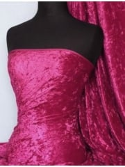 Marble Texture Velvet Lycra 4 Way Stretch Fabric- Fuchsia Q172 FCH