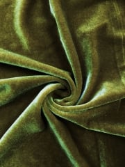 Velvet /Velour 4 Way Stretch Spandex Lycra- Khaki Q559 KH