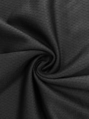 100% Polyester Stretch Sportswear Fabric- Black SQ170 BK