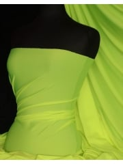 Shiny Lycra 4 Way Stretch Material- Lime Green Q54 LM