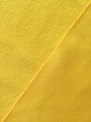 Clearance (90 cms) Micro Fleece Jersey Backed Stretchy Sports Fabric- Sunflower Yellow SQ219 SYL