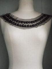 Jewels Round Neck Piece- Black EM39 BK