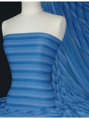 100% Viscose Stretch Fabric Material- Stripe Royal Blue Q240 RBL