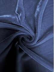 Micro Velvet Velour Fabric Luxuriously Soft Velvet- Navy MVEL22 NY