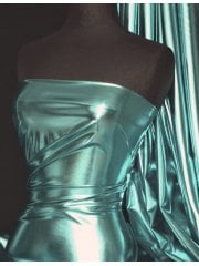 Wet Look Foil Stretch Lycra Fabric- Marine Blue NG253 MRBL