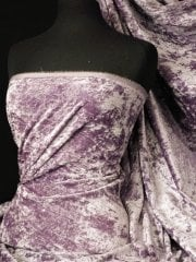 Crushed Glitz Velour/Velvet Woven Interior Fabric- Pale Mauve SQ269 PMVE