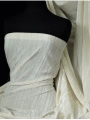 Pleated Creased Velvet/Velour Luxurious Woven Interior Material- Ivory SQ270 IV