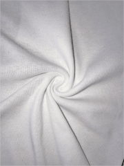 Poly Rib Tubular (38 cms) Stretch Lightweight Fabric- White SQ285 WHT