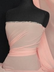Chiffon Soft Touch Sheer Fabric Material- Peach Q354 PCH