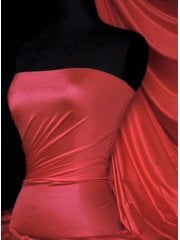 Shiny Lycra 4 Way Stretch Material- Red Rose Q54 RDRS
