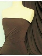 Soft Touch 4 Way Stretch Lycra Fabric- Earth Brown Q36 EBR
