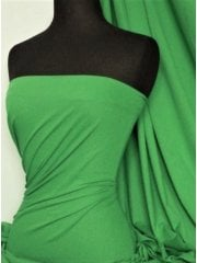 Clearance 100% Cotton Interlock Knit Soft Jersey T-Shirt Fabric- Parrot Green SQ175 PTGR