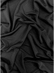 56 METRES Silk Touch 4 Way Stretch Lycra Fabric Wholesale Roll- Black Q53B BK