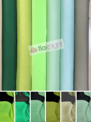 Silk Touch 4 Way Stretch Lycra Fabric Wholesale Roll- Green Shades JBL333