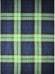 Polar Fleece Anti Pill Washable Soft Fabric- Old School Tartan Navy/Light Green Q1406 NYGRN
