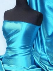 Super Soft Satin Fabric- Turquoise Blue Q710 TQS