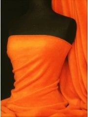 NEW Super Soft Polar Fleece Anti Pill Washable Fabric- Neon Orange PF NOR