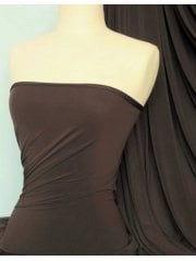 Soft Touch 4 Way Stretch Lycra Fabric- Brown Q36 BR