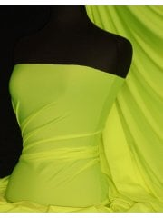 Shiny Lycra 4 Way Stretch Material- Neon Yellow Q54 NYL