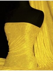 Crushed Velvet/Velour Stretch Material- Yellow Q156 YL