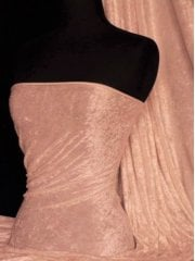 Crushed Velvet/Velour Stretch Material- Peach Q156 PCH