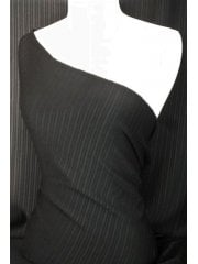 Ponte Double Knit 4 Way Stretch Jersey- Black Stripe SQ8 BK