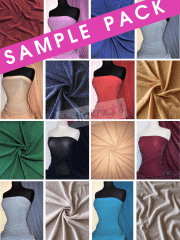 20 SAMPLE PACK- Slinky Shimmer Glitter 4 Way Stretch Fabric Q1183