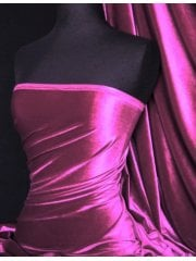 Velvet/Velour 4 Way Stretch Spandex Lycra- Magenta Q559 MGT