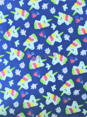 Polar Fleece Anti Pill Washable Soft Fabric- Unicorn Fantasy Royal Blue SQ445 BLMLT