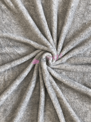 Fluffy Coral Pile Fleece- Grey Melange SQ453 GR