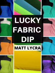 12 PIECES Lucky Dip Fabric Bundle- Matt Lycra 4 Way Stretch Fabric