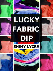 12 PIECES Lucky Dip Fabric Bundle- Shiny Lycra 4 Way Stretch Fabric