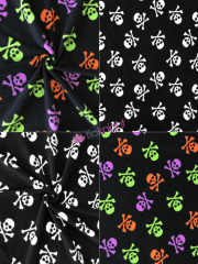 Polar Fleece Anti Pill Washable Soft Fabric- Spooky Skulls SQ497