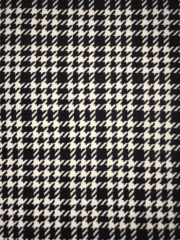 Loungewear Fleece Light-Weight Stretch Fabric- Dogtooth Ivory/Black SQ512 IVBK