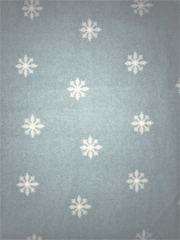 Loungewear Fleece Light-Weight Stretch Fabric- Snowflakes Mint/White SQ511 MNT