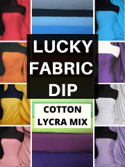 12 PIECES Lucky Dip Fabric Bundle- Cotton Lycra Dressmaking/ Arts & Crafts Fabric