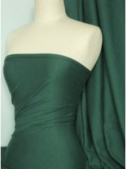 Soft Fine Rib 100% Cotton Knit Material - Bottle Green Q61 BTGR