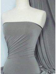 Silk Touch 4 Way Stretch Lycra Fabric- Mid Grey Q53 MDGR