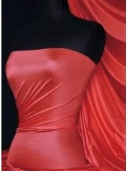 Shiny Lycra 4 Way Stretch Material- Ruby Red Q54 RBRD