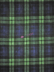 NEW Polar Fleece Anti Pill Washable Soft Fabric- Tartan Dark Navy & Green Q1406 DNYGRN
