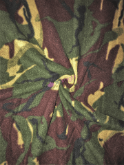 Polar Fleece Anti Pill Washable Soft Fabric- Khaki/Brown Camo SQ532 KHBR