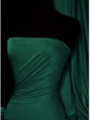 Viscose Cotton Stretch Lycra Fabric- Dark Bottle Green Q300 DBTGR