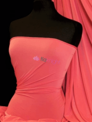 Peach Skin Soft Touch Drape Dress Fabric- Neon Pink Punch PSK208 PNCH