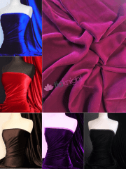 Micro Velvet Velour Fabric Luxuriously Soft Velvet- MVEL22