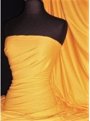 Cotton Lycra Jersey 4 Way Stretch Fabric - Sunflower Yellow Q35 SNF