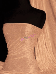 Crushed Velvet/Velour Stretch Material- Peach Melba Q156 PCHMB