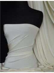 Clearance Shiny Lycra 4 Way Stretch Material- Ivory Q54 IV