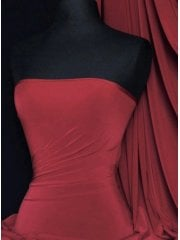 Silk Touch 4 Way Stretch Lycra Fabric- Burgundy Q53 BGD